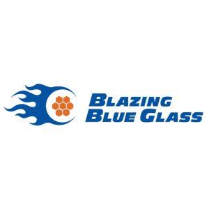 Blazing Blue Glass